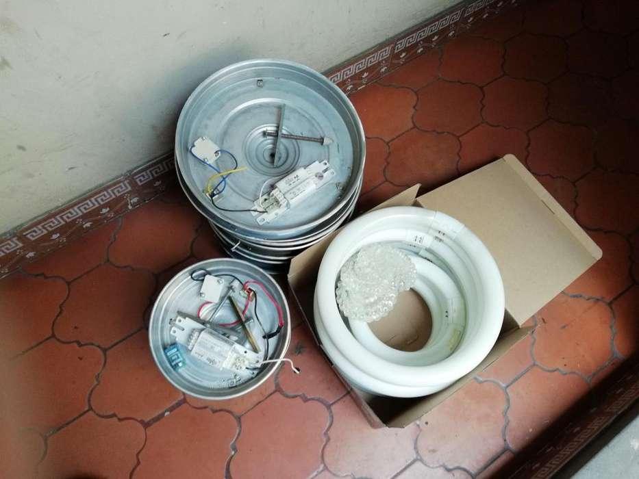 Remato Platos y Flourecentes de aluminio Philips