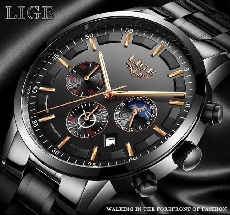 Reloj de hombre LIGE deporte moda reloj de cuarzo