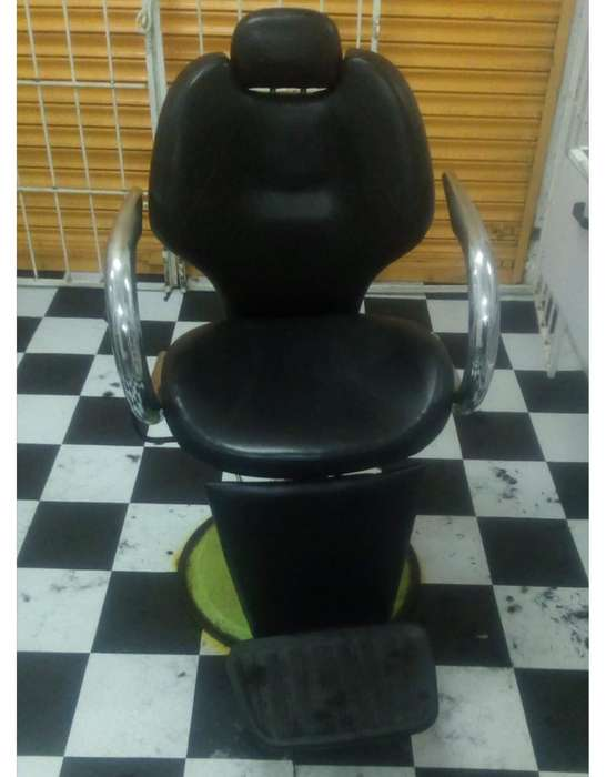 Silla de barberia reclinable