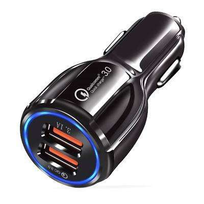 Cargador Vehículo Fast Charge Carga Rapida 2 puertos