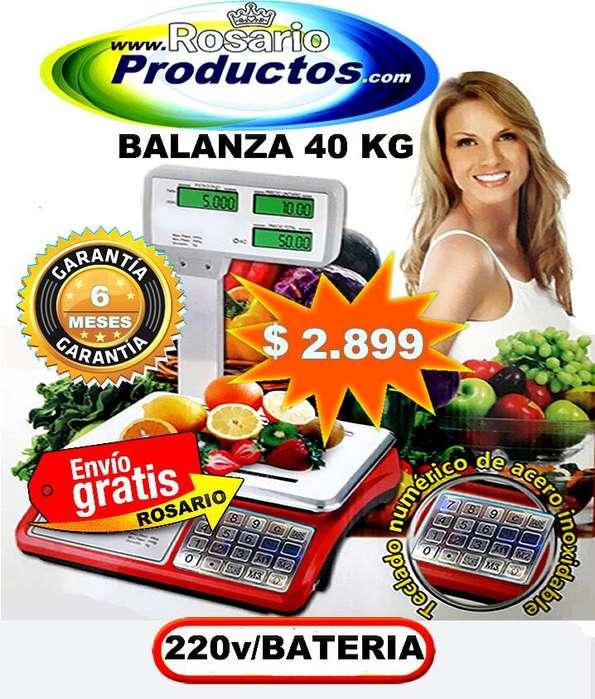 BALANZA 40 KG BATERÍA RECARGABLE GARANTÍA 6 MESES
