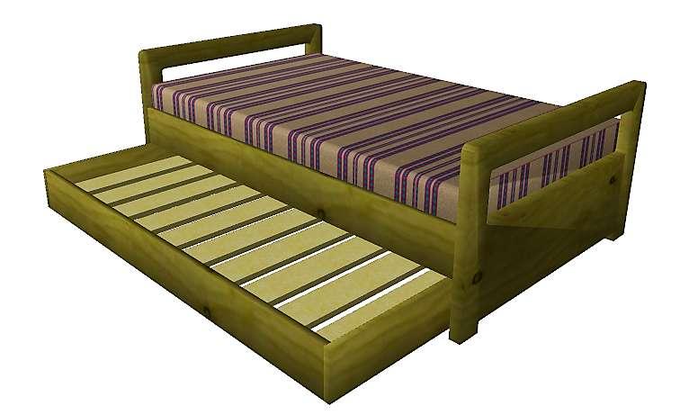 <strong>cama</strong> Sencilla 190 x 100 Auxiliar Inferior Colchón El Dorado