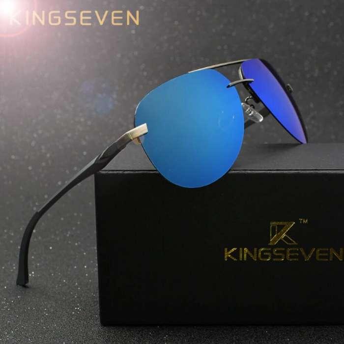 6ab6e90bd7 Lentes De Sol Para Hombre Y Mujer Gafas Aviador Kingseven Polarizadas  UV400, vendemos productos Nuevos