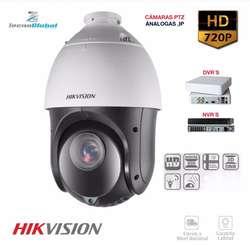 Cámaras PTZ -ójo de águila análogas /Ip/ resolución 720P / 1080P dvrs.Nvrs HIKVISION