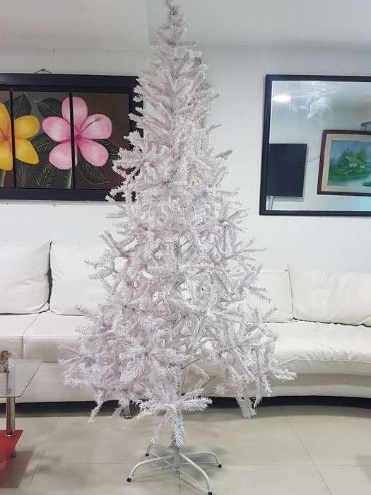 Vendo Arbol de Navidad Blanco 2 Metros