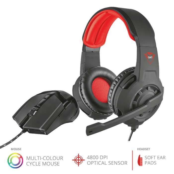 TRUST GXT 784 Gaming Headset Mouse