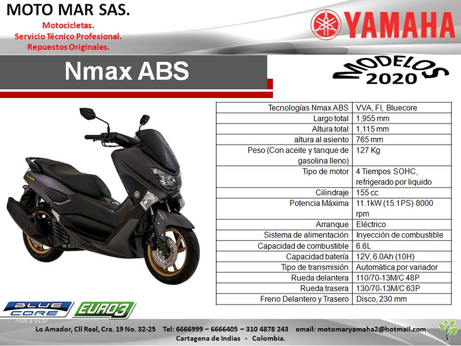 MOTO YAMAHA NMAX ABS MODELO 2020
