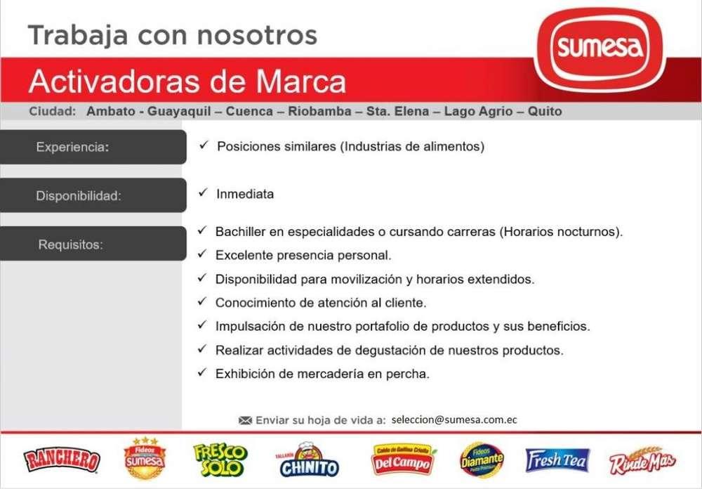 REQUIERO ACTIVADORAS DE MARCA