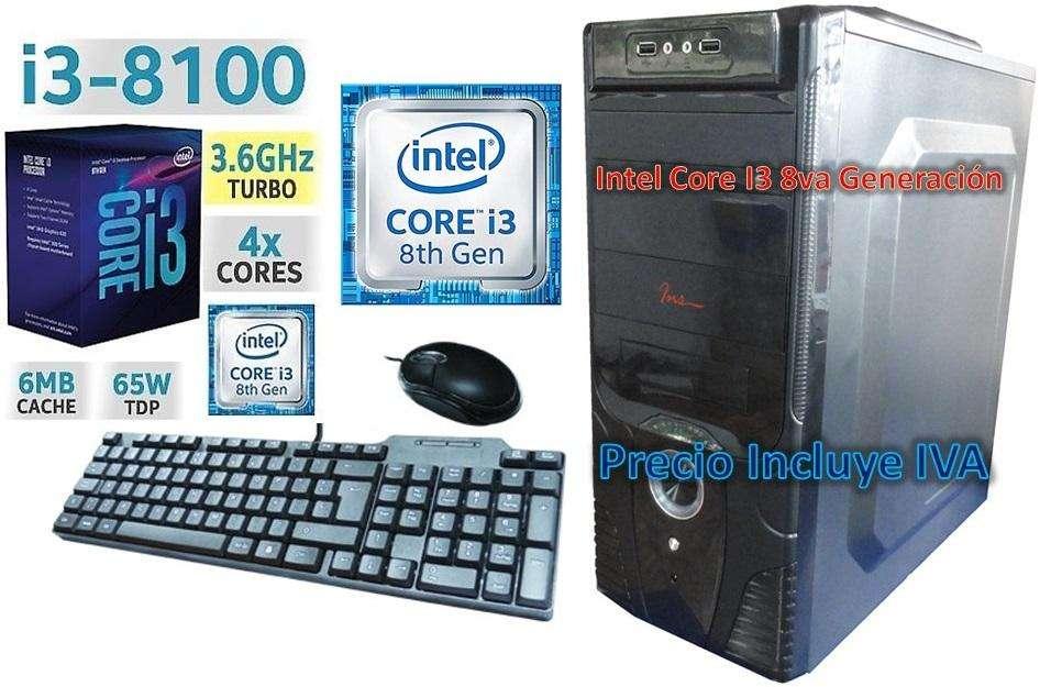 Computadora Cpu Intel Core I3 8va 1tb 4gb, I5 i7 PRECIO INCLUYE IVA ENTREGA A DOMICILIO