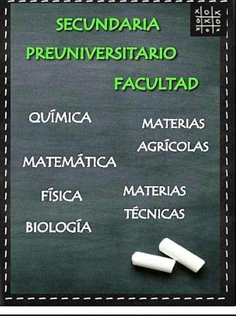 Clases MATEMÁTICAS, FÍSICA, QUÍMICA