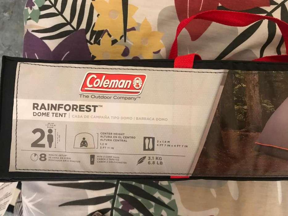 Carpas Coleman 2 Personas Rain Forest Gris Cambios Todo Clima.