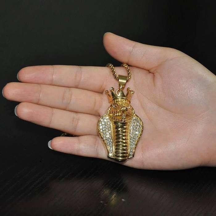Collar Serpiente Alta calidad oro 18k
