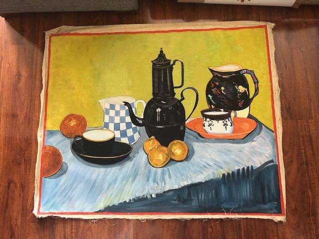 <strong>pintura</strong> LIENZO HOMENAJE A VINCENT VAN GOGH.