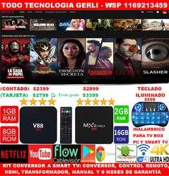Smart Tv Box Android 7 Netflix Youtube 8gb De Rom 1gb Ram Control