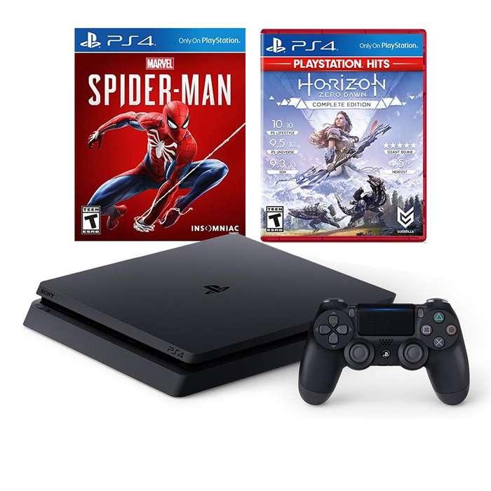 PS4 slim 1 Terabyte NUEVO con 2 Juegos NUEVOS