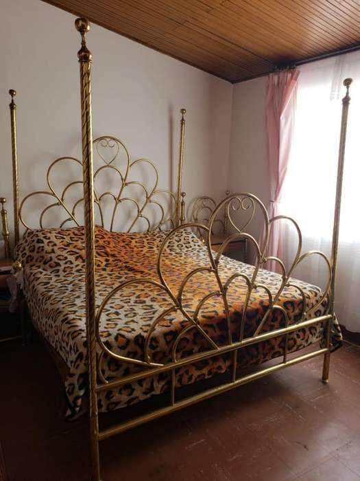 Elegante Cama <strong>dormitorio</strong> Clásico en Bronce