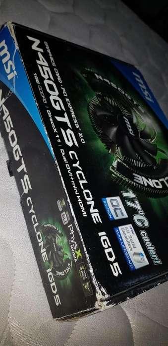 Placa Video Nvidia Geforce N450gts 1gb Ddr5, acepto canje. lp
