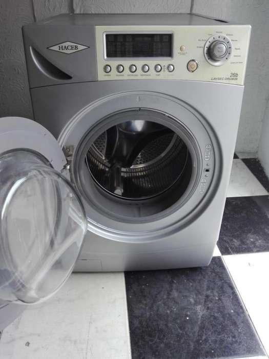 Lavadora secandora 26lbs marca haceb