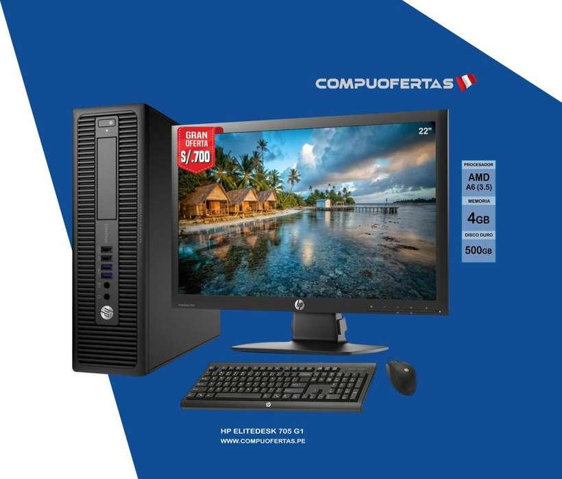 Computadora HP 705 G1 AMD A6 PRO 3.5GHZ