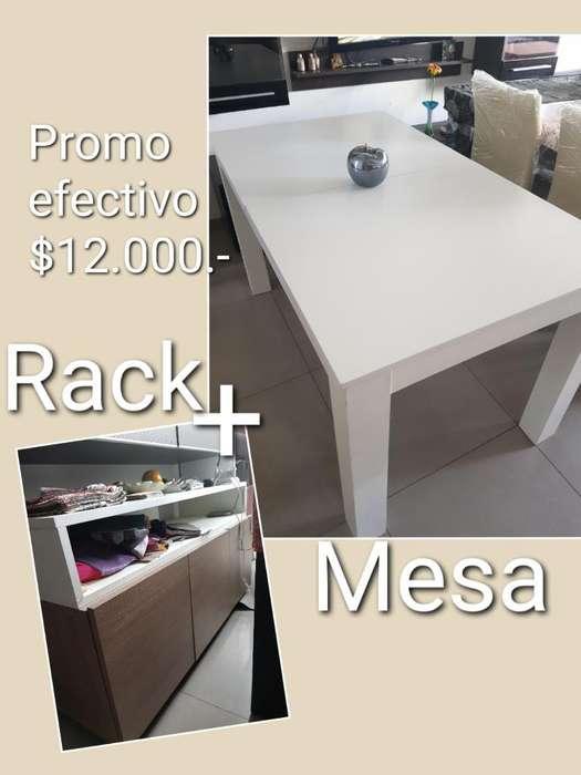 Rack Más Mesa Extensible