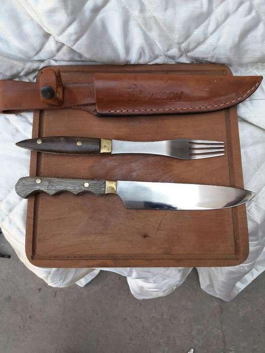 Set de Asado Cuchillo Y Tenedor