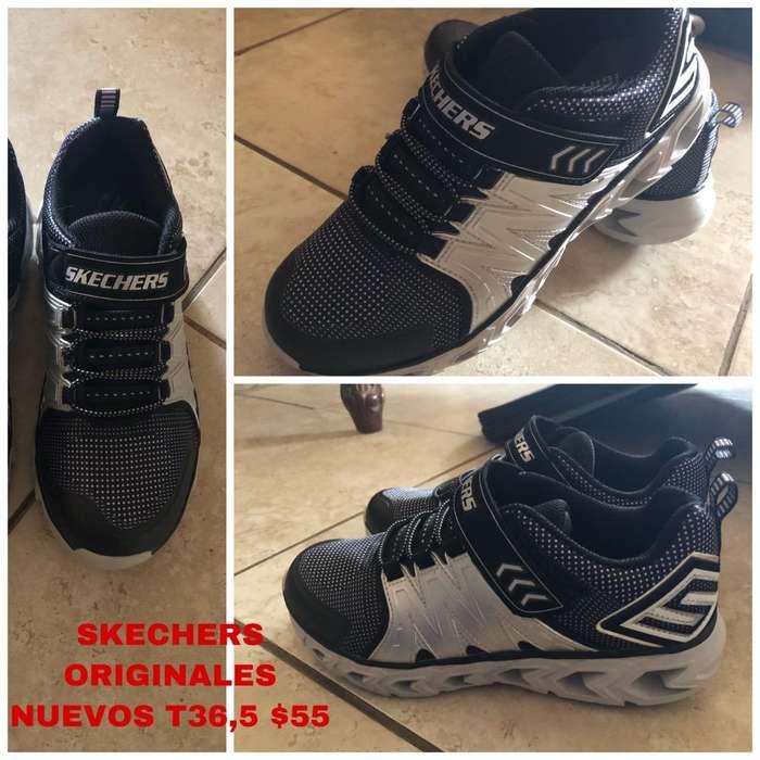 Skechers Niño Originales Nuevos T36,5