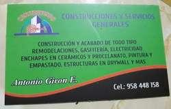 CONSTRUCCIÓN, REMODELACIONES Y ACABADO DE TODO TIPO