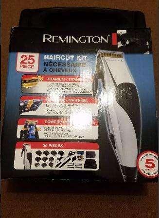Cortadora de cabello eléctrica 25 piezas REmington