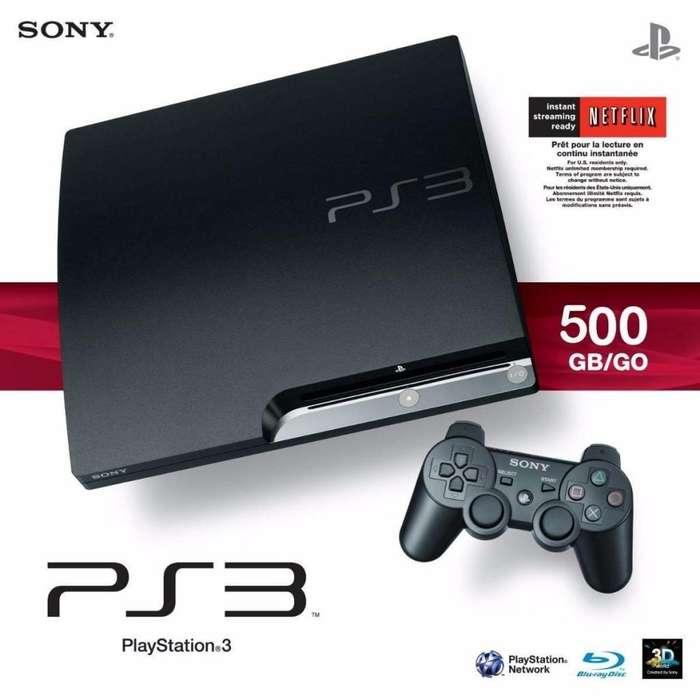 PS3 PLAYSTATION 3 SLIM 500GB CON 70 JUEGOS CARGADOS Y 2 JOYSTICK!! DIGIOFERTAS CORDOBA