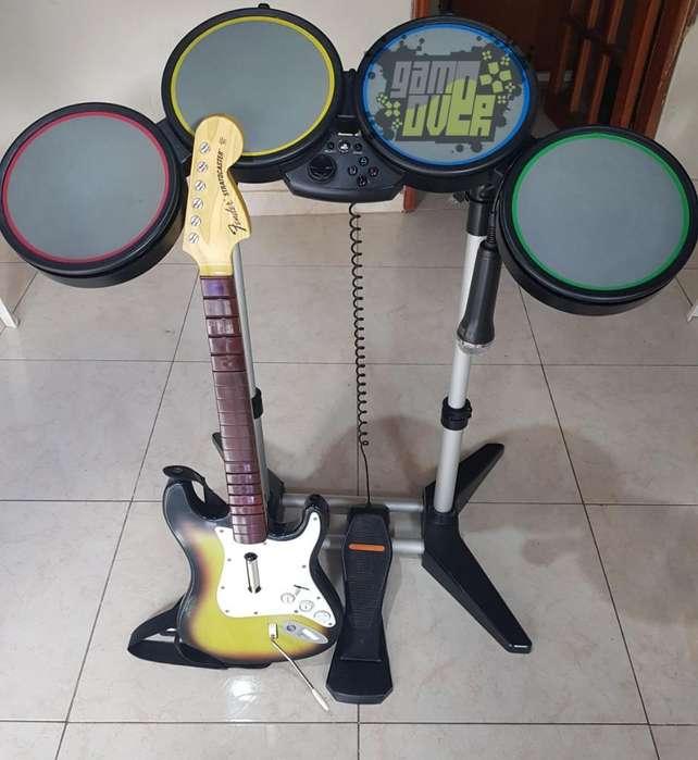 Kit Guitar Hero Y Rock Band Ps3 Y Pc