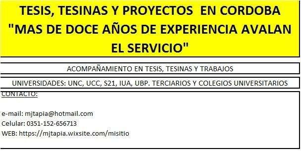 TESIS, TESINAS Y PROYECTOS -