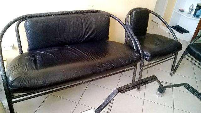 <strong>mueble</strong>s para sala u oficina, micro cuero, 5 puestos.