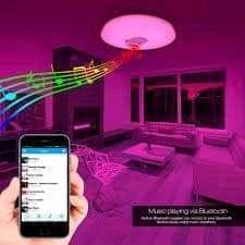 Foco Grande Led Con Parlante Bluetooth