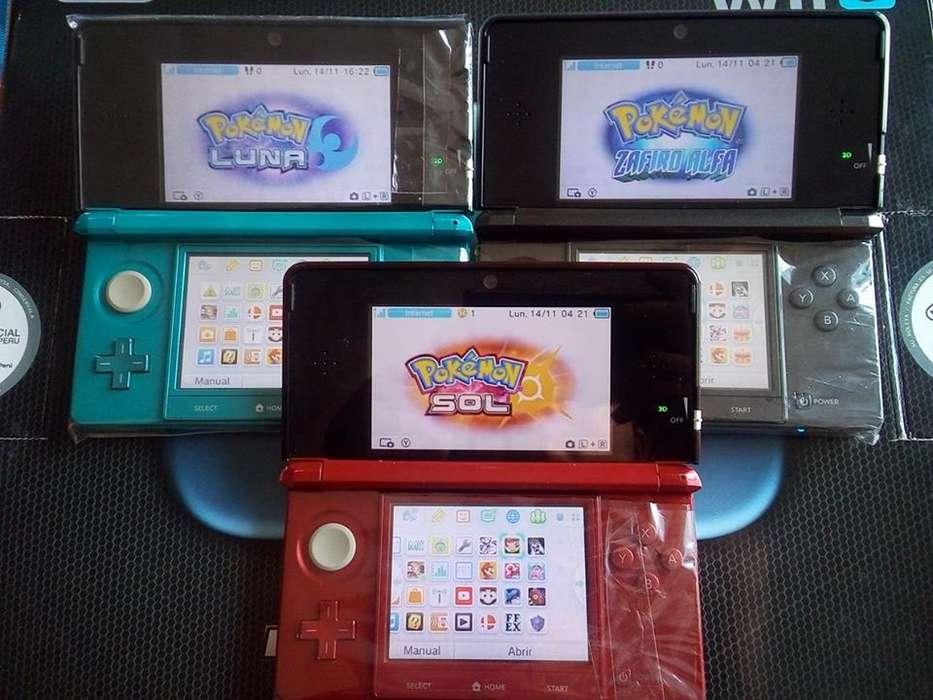NINTENDO 3DS FLASHEADA 2 O 3 JUEGOS POCO USO Y GARANTIA TIENDATOPMK
