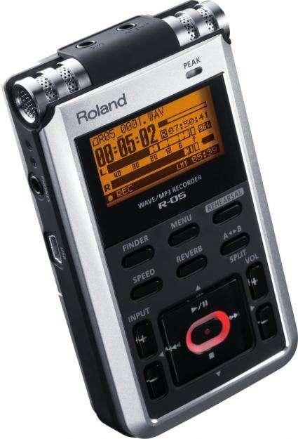 ROLAND R05 Grabadora Reportera Portatil Digital MicroSD 2496 entrada de Mic y Line