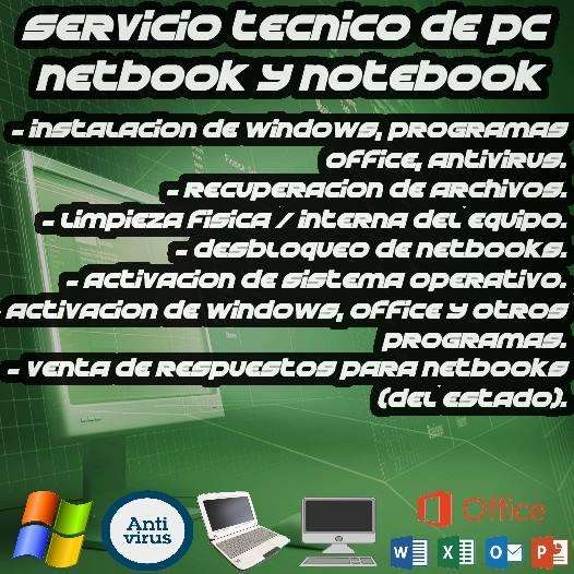PARA COMPUTADORAS Y NETBOOKS Y ALL IN ONE