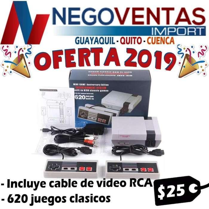 CONSOLA DE JUEGO CLASICO 620 JUEGOS INCLUYE DOS PLANCA