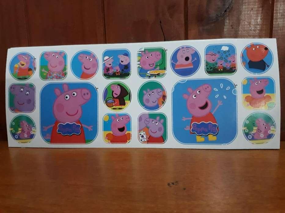 Stickers de Peppa Pig X 10