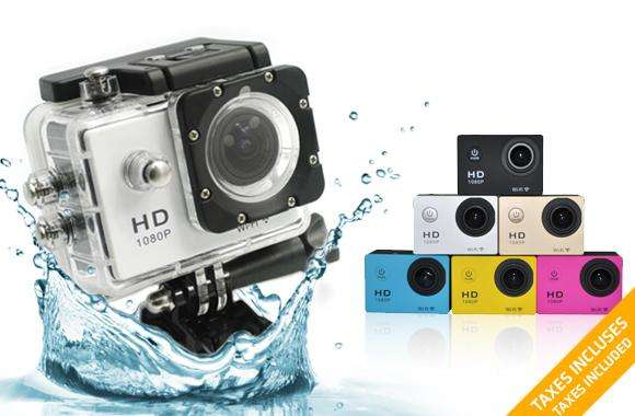 CAMARA XTREME SPORTS 1080P FULL HD WATERPROOF 30M <strong>accesorios</strong>