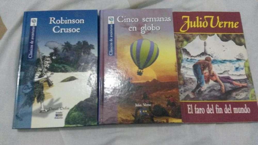Julio Verne y Daniel Defoe