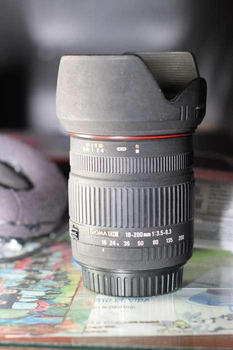 Lente Sigma 18 200 para <strong>canon</strong>