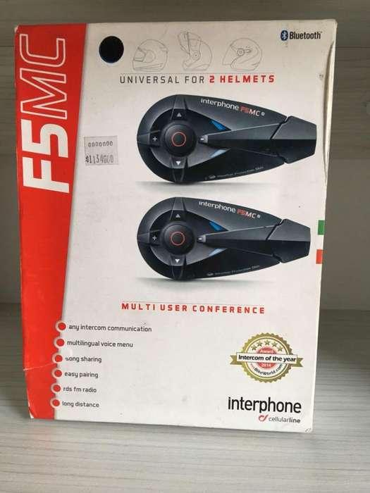 Interphone F5MC para 2 cascos motocicleta