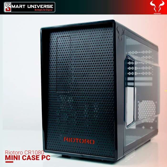 Case Pc Mini Riotoro Cr1080 Compacto Rgb Gamer