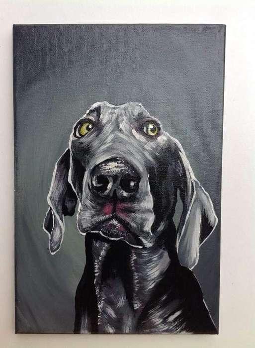 Pintura Perro Plomo