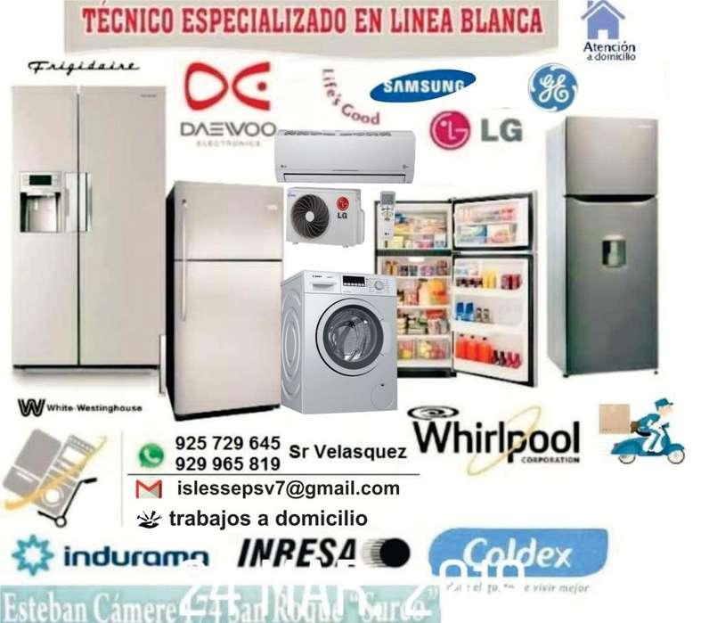 SERVICIO TECNICO REFRIGERADORA LAVADORA SECADORA LG Samsung Bosch Electrolux Whirlpool SERVICIO A DOMICILIO