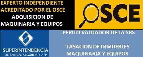 TASACIÓN DE INMUEBLES, MAQUINARIAS Y EQUIPOS