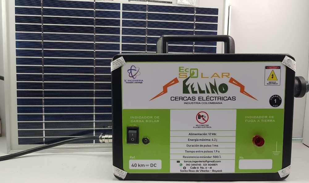 Cerca Eléctrica Solar 40km Para Ganadería