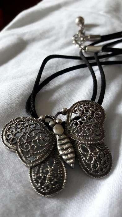 Collar Mariposa de Plata 950