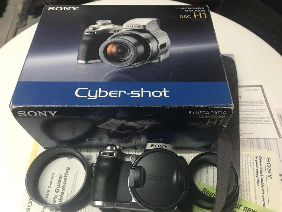 Camara Sony Dsc H1 Cybershot 5.1 Mp 12 X Zoom Caja y Manual