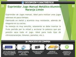 Exprimidor Jugo Manual Metálico Aluminio Naranja Limón